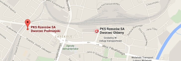 mapa polskibus
