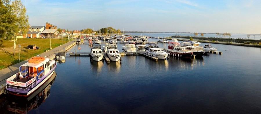 Мазурські озера. Порт у Гіжицьку