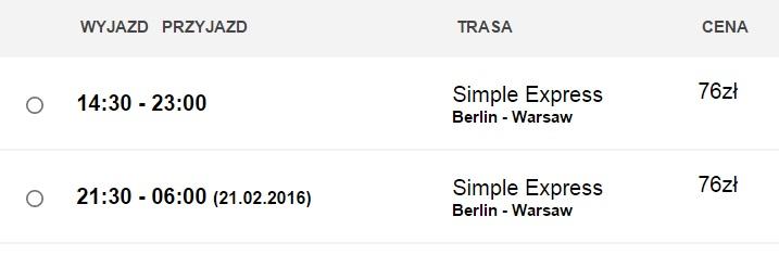 Дешеві квитки на автобус: Берлін-Варшава (LuxExpress)