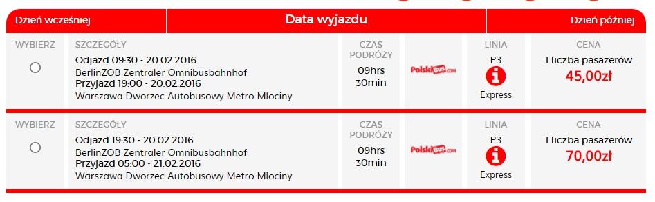 Дешеві квитки на автобус: Берлін-Варшава (PolskiBus)