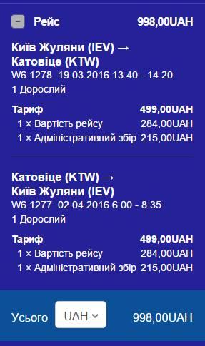 Перша частина маршруту Київ-Барселона