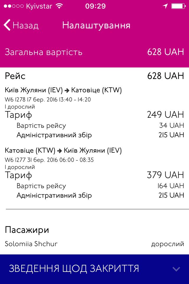 Київ-Катовіце - Київ - підсумок