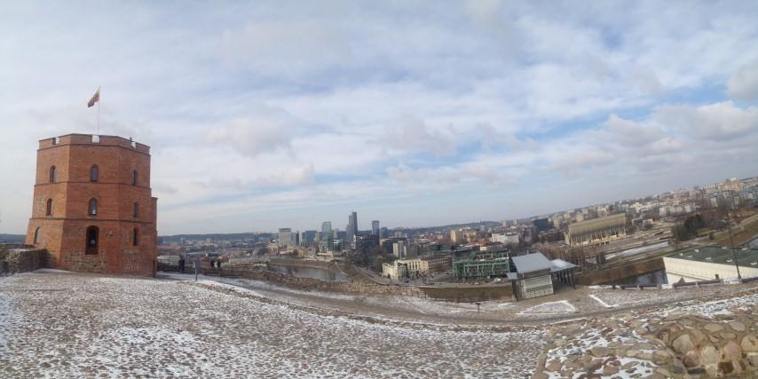 Панорама на нове місто з замку
