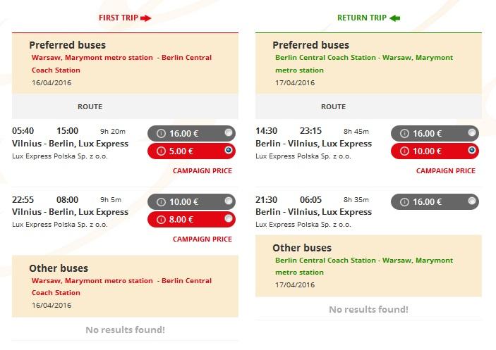 Варшава-Берлін за 5 євро