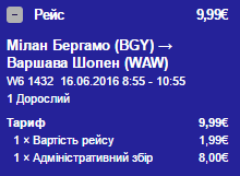 Мілан-Варшава коштує так само дешево, як Бухарест-Мілан