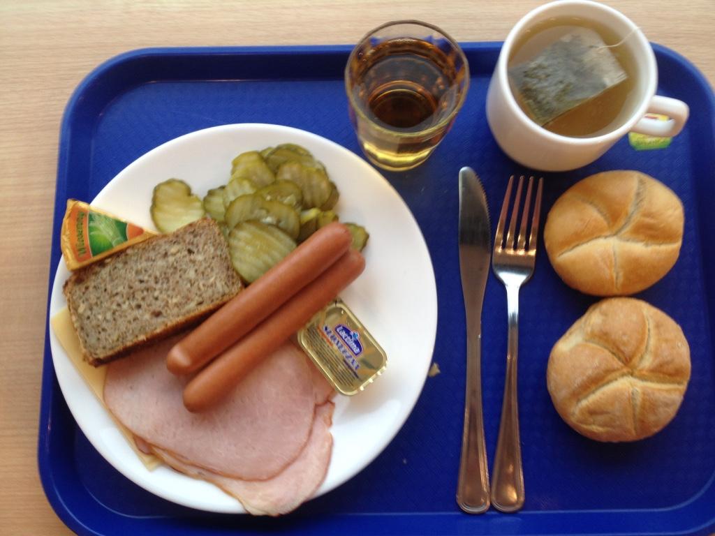 Завтрак в краковском отеле Ibis
