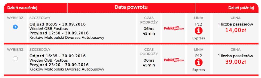 PolskiBus Krakow wien