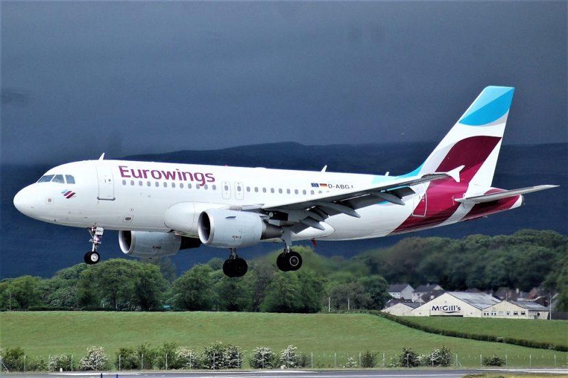 Eurowings: розпродаж авіаквитків Європою від 9,99€ (Німеччина, Франція, Іспанія, Хорватія)