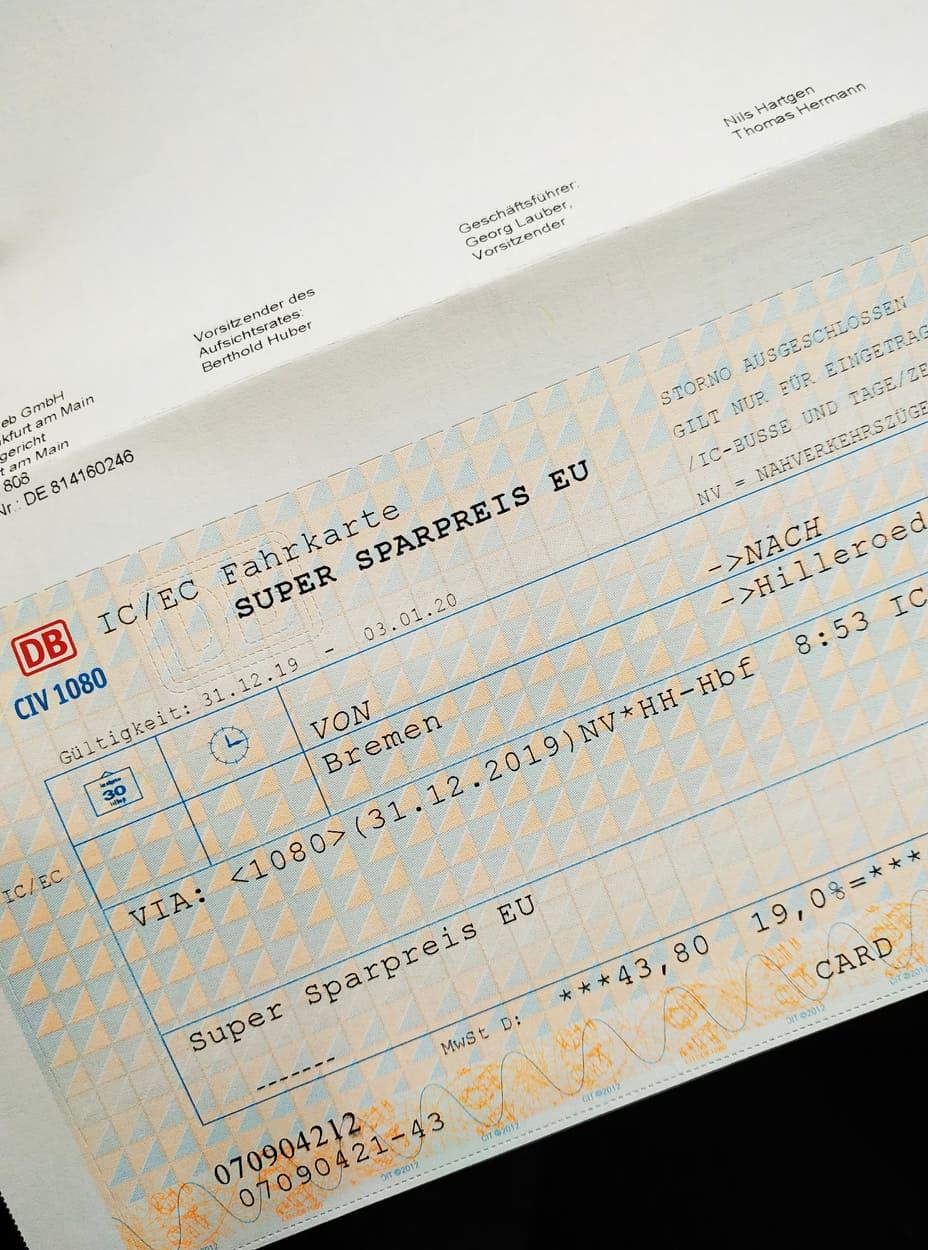 Deutsche Bahn Ticket Kontrolle